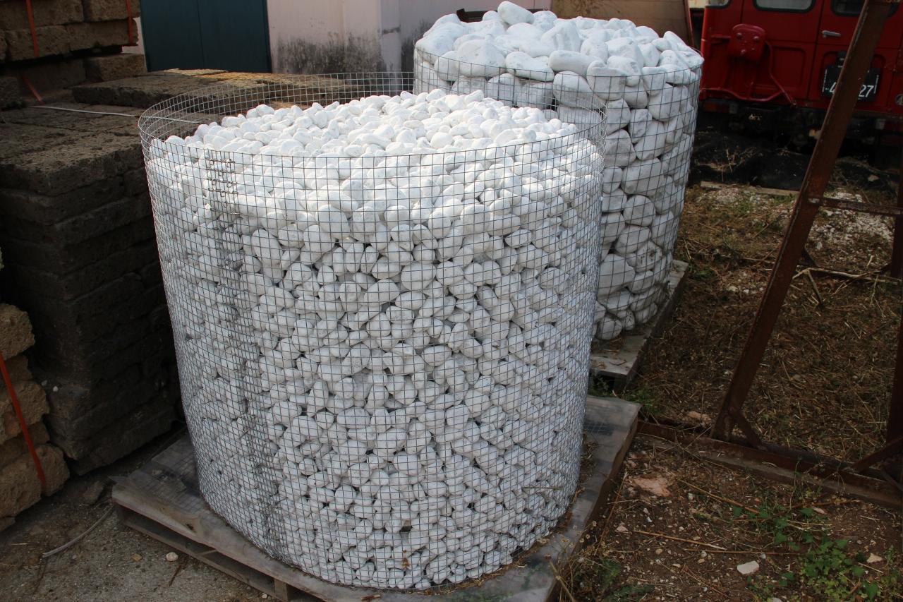 Foto e prezzi dei ciottoli per muri esterni ed interni for Sassi bianchi da giardino prezzo